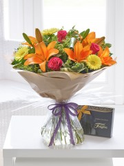 Summer Sunshine Hand-tied with Chocolates