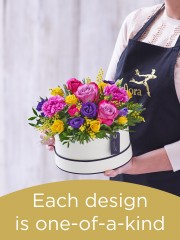 Mother's Day hatbox made with the finest flowers